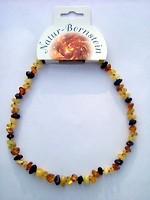 Bernstein Halskette in gemischten Bernstein Farben