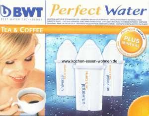 BWT Universal MG+ - 3 Wasserfilter Kartuschen für Brita Classic