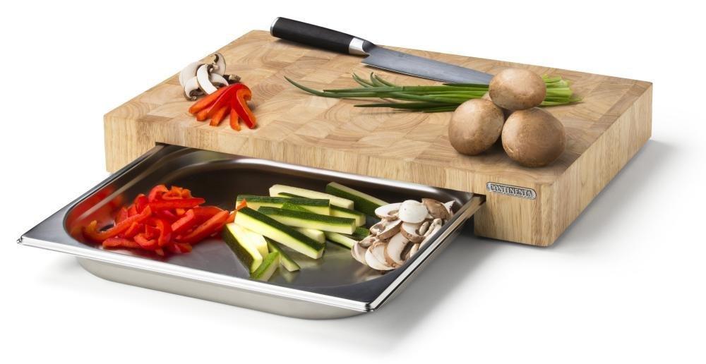 Continenta schneidebrett mit edelstahl schublade kochen - Kochen essen wohnen ...
