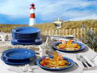 Geschirrset Angebot - Ammerland Blue Friesland Tafel Set