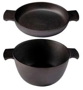 Skeppshult Gusseisen Set Topf und Omelettepfanne