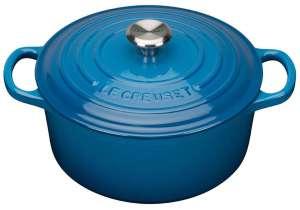 Le Creuset Gusseisen Topf / Bräter 28 cm marseille blau