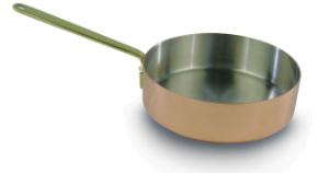 Kupfer Sautoir 10 cm mit Stiel