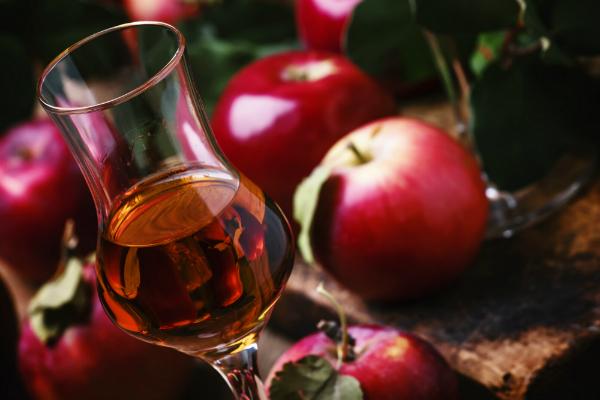 Calvados bernsteinfarbener Apfelbranntwein