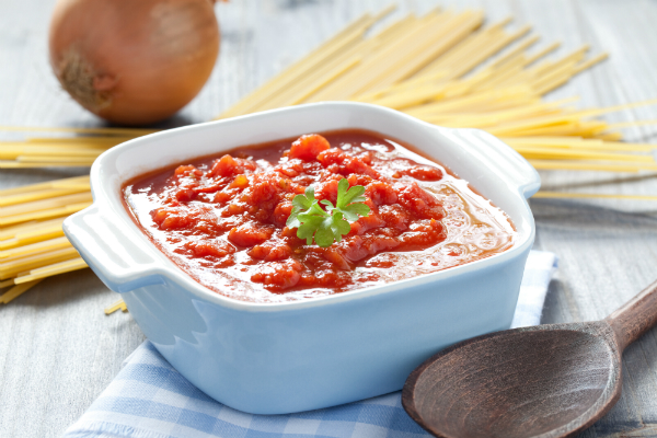 Leckere, selbst gemachte Tomatensauce