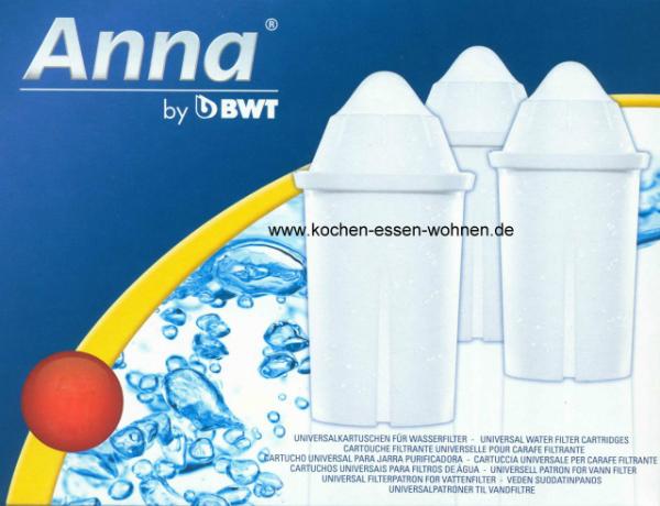 Anna Monomax 12 Wasserfilter Kartuschen fuer Brita Classic