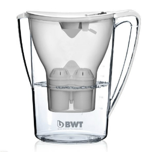 BWT Wasserfilter Filterkanne mit 3 Kartuschen
