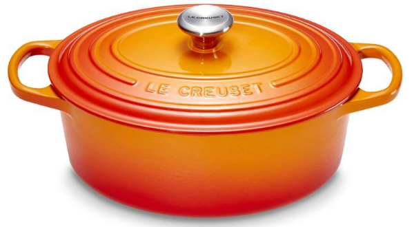Le Creuset Gusseisen Braeter oval 31 cm ofenrot