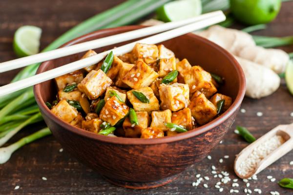 Tofu ist kalorienarmes und leichtes Powerfood