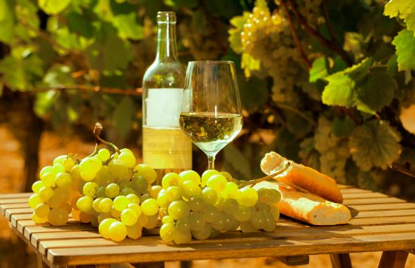 Auch Weißweine können schön vollmundig sein