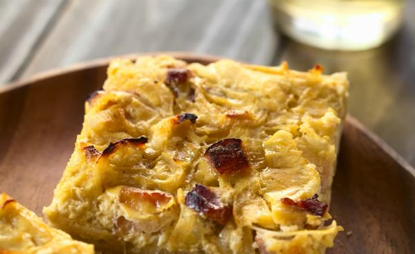 Der Zwiebelkuchen ist aus der Herbst-Küche kaum wegzudenken