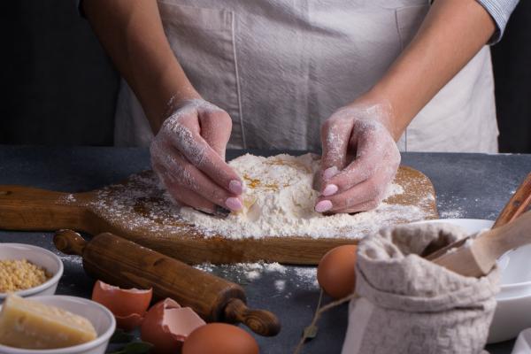 Nudeln mit Ei selber machen