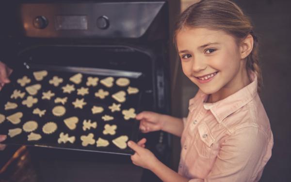 Plätzchen im Ofen
