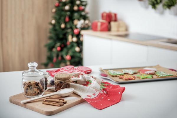 Die Küche an Weihnachten